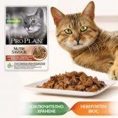 КОТКИ | Храна за котки | Pro Plan Sterilised Beef, пауч, 85 гр - хапки в сос с Говеждо