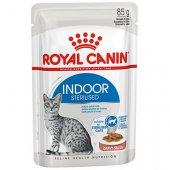 Royal Canin Indoor in Gravy хапки в сос - 12 броя пауч по 85 гр