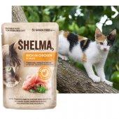 Shelma Cat Паучове за котка, 28x85гр - пиле, домати, билки