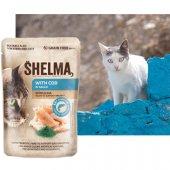 Shelma Cat Паучове за котка, 28x85гр - риба треска, спирулина