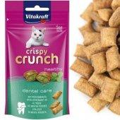 Vitakraft Cat Crispy Crunch, 60гр - Дентални джобчета с ментов пълнеж