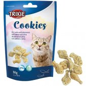 Trixie Cookies, бисквитки за котки - рибки със сьомга и катнип, 50 гр