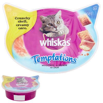 Whiskas Temptation - изкушение със сьомга, 60гр