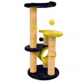 M-Pets Everest cat tree - 40 x 40 x 86 см, лайм-черно