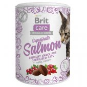 Brit Care Cat Snack Superfruits Sterilised Salmon, 100гр - за кастрирани котки