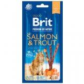 Brit Premium Cat Sticks with Salmon & Trout - лакомство за котки със сьомга и пъстърва
