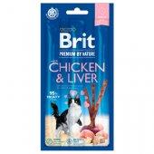 Brit Premium Cat Sticks with Chicken & Liver - лакомство за котки с пилешко и черен дроб