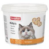 Beaphar Kittis с таурин, биотин, протеин и сирене, 750 броя