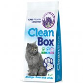 CleanBox Лавандула, 5 литра - постелка от бял бентонит