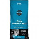 Worlds Best Cat Litter с аромат на лотосов цвят - от царевица