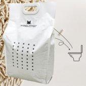 WeeLitter Натурална, биоразградима соева котешка тоалетна с аромат Праскова