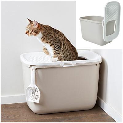Savic Закрита котешка тоалетна HOP IN, мока, без лопатка