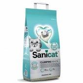 Sanicat Clumping White - чист и свеж бял натурален бентонит, обогатен с кислород