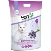 Sanicat Diamonds Lavender - силиконова котешка тоалетна с аромат на лавандула