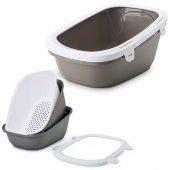 Savic Simba Sift Тоалетна, бяло-сива - два съда и решетка, 64 х 46 х 31см