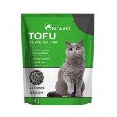 Beta Pet Котешка тоалетна Тофу, биоразградима - Активен въглен