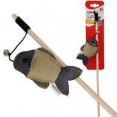 Camon Дървена въдица, 40см - с рибка с катнип