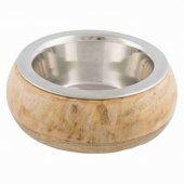 Trixie Купа от неръждаема стомана с дървен държач, 450мл