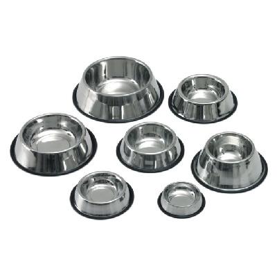 Миазоо Купа за храна и вода - хром с гумена основа