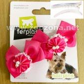 Ferplast PA 6507 - 2 броя панделки със шнола, 4см, розови