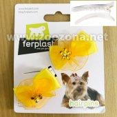 Ferplast PA 6507 - 2 броя панделки със шнола, 4см, жълти