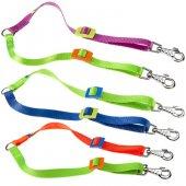 Ferplast Twin Colours 20/50 - Цветен повод за две кучета, 20мм, 33-50см