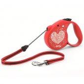 КУЧЕТА |  | Flexi Heart S - 5 м въже, до 12 кг - червен