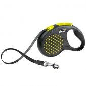Flexi Design Dots S - 5 м лента, до 15 кг - жълт
