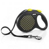 Flexi Design Dots L - 5м лента, до 50 кг - жълт