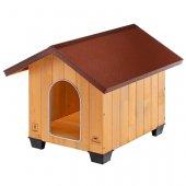 Ferplast Domus Medium - Дървена къща, 70x83x67см