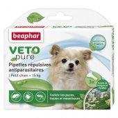 Beaphar Veto Pure Bio Spot On за кучета от дребни породи, 3 пипети