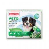 Beaphar Veto Pure Bio Spot On за кучета от едри породи, 3 пипети