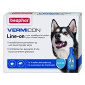 Beaphar Vermicon Line-on - за средни породи, до 30 кг, 3 пипети