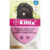 Kiltix противопаразитна каишка за кучета от средните породи, 53см