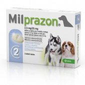Milprazon Милпразон 2,5 мг, 2 таб. за кучета до 5кг