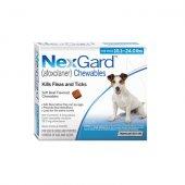 Merial Nexgard 28.3 mg. за кучета с тегло 4-10 кг - 3 дъвчащи таблетки срещу бълхи и кърлежи