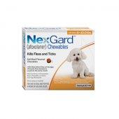 Merial Nexgard 11.3 mg. за кучета с тегло 2-4 кг - 3 дъвчащи таблетки срещу бълхи и кърлежи