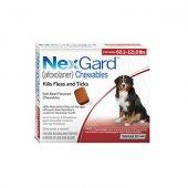 Merial Nexgard 136 mg. за кучета с тегло 25-50 кг - 3 дъвчащи таблетки срещу бълхи и кърлежи