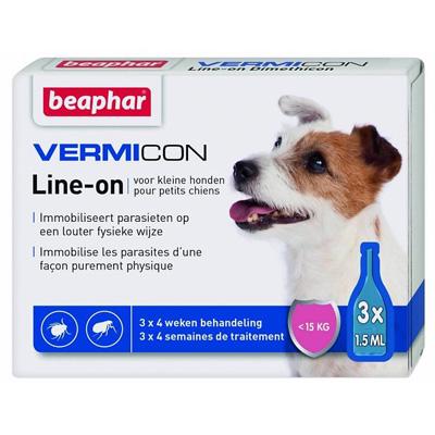 Beaphar Vermicon Line-on - за дребни породи, до 15 кг, 3 пипети