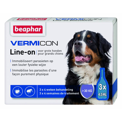 Beaphar Vermicon Line-on - за едри породи, над 30 кг, 3 пипети