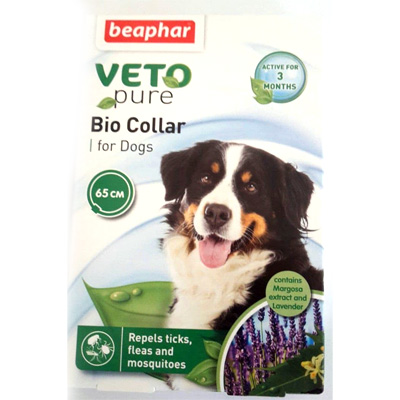 Beaphar Veto Pure Bio Collar - Репелентен нашийник за куче, 65см