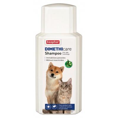Beaphar Dimethicare - Противопаразитен шампоан за куче и коте, 200мл