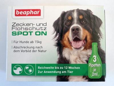 Beaphar Био спот он за кучета от едри породи, 3 пипети