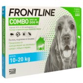 Frontline Combo M, 10-20 spot on за кучета с тегло от 10 до 20 кг