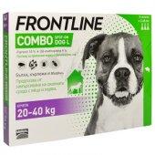 Frontline Combo L, 20-40 spot on за кучета с тегло от 20 до 40кг