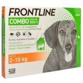 Frontline Combo S, 2-10 spot on за кучета с тегло от 2 до 10кг