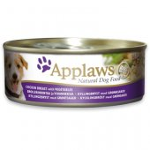 Applaws Dog Adult, консерва - Месни хапки - пилешко филе и зеленчуци