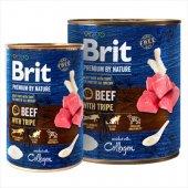 Brit Premium Beef with Tripe, говеждо със шкембе - консерва