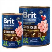 Brit Premium Chicken with Hearts, пилешко със сърца - консерва