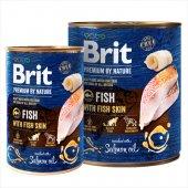 Brit Premium Fish with Fish Skin, риба с рибна кожа - консерва